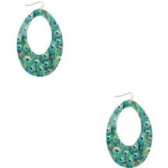 Peacock printed earrings at Forever 21