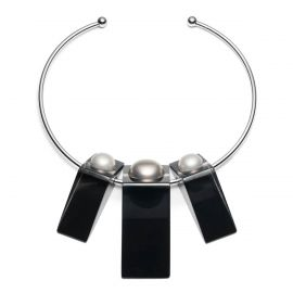 Pearl Studded Geometric Collar at Alexis Bittar