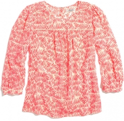Peasant blouse in Bamboo Leaf at Madewell