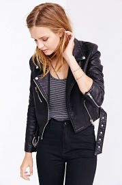 Pebbled leather jacket at Urban Outfitters