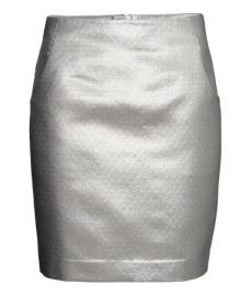 Pencil Skirt in silver at H&M