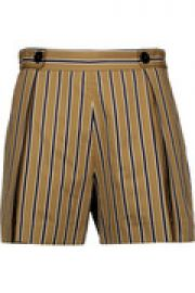 Pendy striped cotton-blend shorts at The Outnet