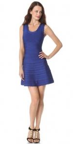 Pennys blue dress by Herve Leger at Shopbop