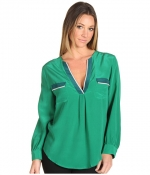 Penny's green top by Joie at 6pm