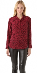Pennys red and black shirt by Equipment at Shopbop