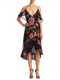 Peony Floral Wrap Silk Dress by Nicholas at Saks Off 5th