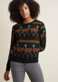 Pepaloves Ducks Sweater at ModCloth