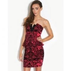 Peplum Bandeau Dress by Lipsy at Bank