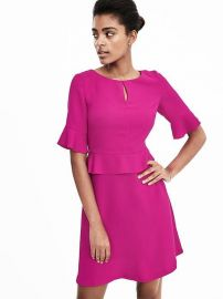 Peplum Flounce Dress at Banana Republic
