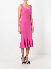 Peplum Hem Midi Dress by Dolce & Gabbana at Farfetch