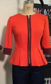 Peplum Jacket at Heather Pain