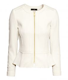 Peplum Jacket in White at H&M