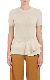 Peplum Wool-Blend Short-Sleeve Sweater at Barneys