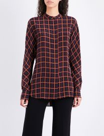 Perfect dolman checked silk shirt at Selfridges