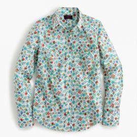 Perfect shirt in Liberty reg  Edenham floral at J. Crew