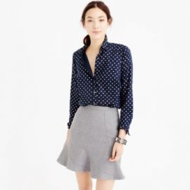 Perfect shirt in foil dot at J. Crew
