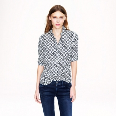 Perfect shirt in foulard at J. Crew
