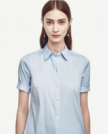 Perfect shirt short sleeve at Ann Taylor