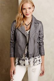 Perfed Vegan Leather Moto Jacket at Anthropologie