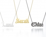 Personalised nameplate necklace at Sarah & Chloe