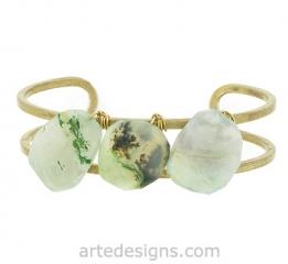 Peruvian Opal Cuff Bracelet at Arte Designs