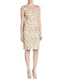 Peserico - Floral-Print Cap Sleeve Sheath Dress at Saks Off 5th