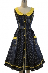 Peter Pan Collared Dress at Le Bomb Shop