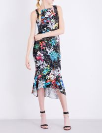 Peter Pilotto Floral Print Crepe Dress at Selfridges