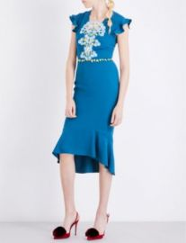 Peter Pilotto Lace-overlay Crepe Dress at Selfridges