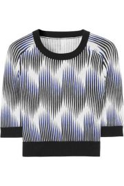 Peter Pilotto for TargetandnbspandnbspCropped printed cotton-blend top at Net A Porter