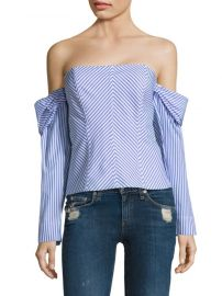 Petersyn Jack Striped Cotton Top at Saks Off 5th