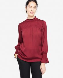 Petite Smocked Blouse by Ann Taylor at Ann Taylor