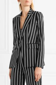Petra striped twill blazer at Net A Porter