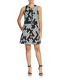 Phillip Lim Graphic Print Zip Aline Dress at Saks Off 5th