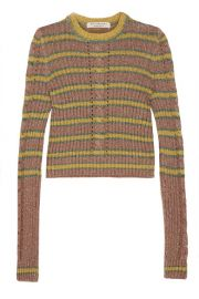 Philosophy di Lorenzo Serafini   Metallic striped cable-knit sweater at Net A Porter