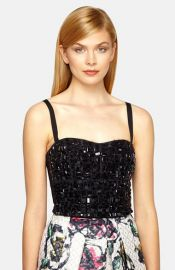 Phoebe Beaded Crop Top at Nordstrom