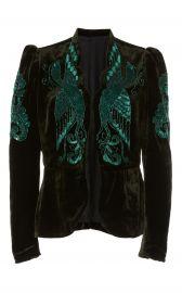 Phoenix Beaded Velvet Jacket by Anna Sui at Moda Operandi