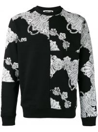 Phoenix Paisley Printed Sweatshirt by McQ Alexander Mcqueen  at Farfetch