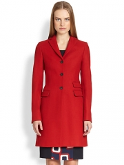 Piazza Sempione - Wool Three-Button Top Coat at Saks Fifth Avenue