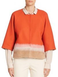 Piazza Sempione Colorblock Short Wool Jacket at Saks Fifth Avenue
