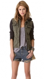 Pieced Twill Jacket by Free People at Shopbop