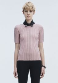 Pierced Short Sleeve Top at Alexander Wang