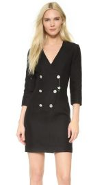 Pierre Balmain V Neck Dress with Button Detail at Shopbop