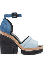 Pierre Hardy   Charlotte Sun denim platform sandals at Net A Porter