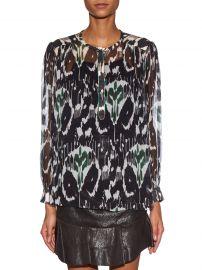 Pilay Printed Silk-Chiffon Shirt by Isabel Marant at Matches