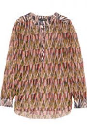 Pilay cotton-paneled printed silk-georgette blouse at The Outnet