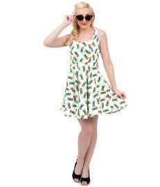 Pineapple Print Dress at Unique Vintage