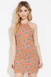 Pineapple Print Halter Dress   Forever 21 - 2000150299 at Forever 21