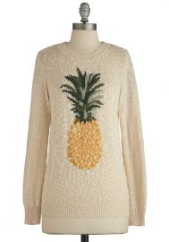 Pineapple of My Eye Sweater at ModCloth