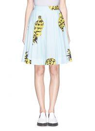 Pineapple print skirt by MSGM at Lane Crawford